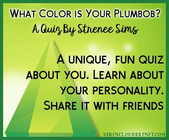 What Color is Your Plumbob? A Quiz by strenee sims