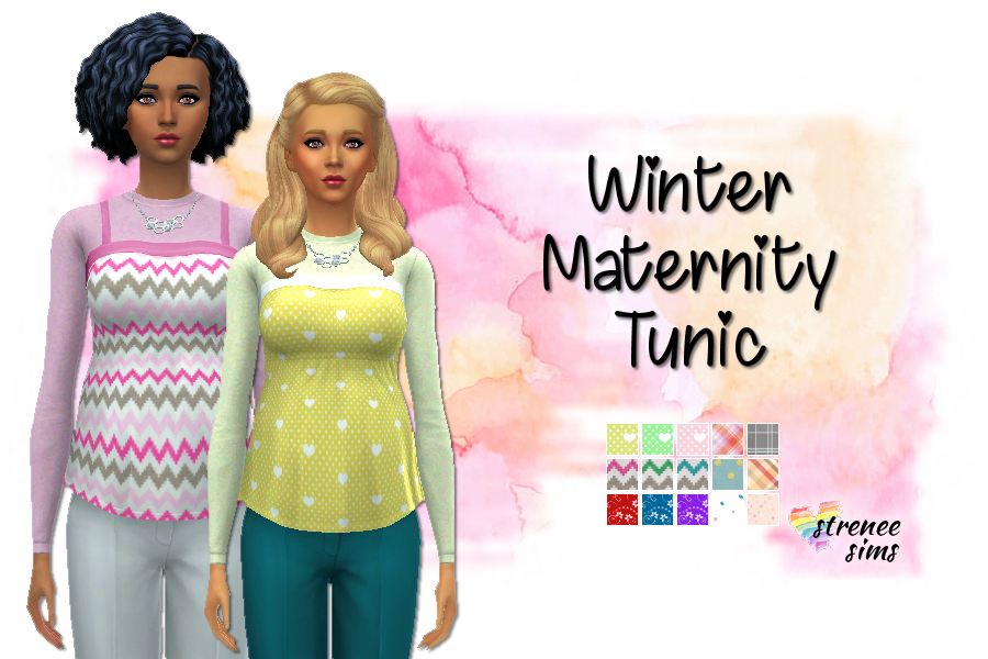Winter Maternity Tops   Warm tops for your pregnant Sims! #Sims4 #TheSims #Sims4cc   www.streneesims.com