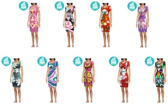 Original City Living Print Dress