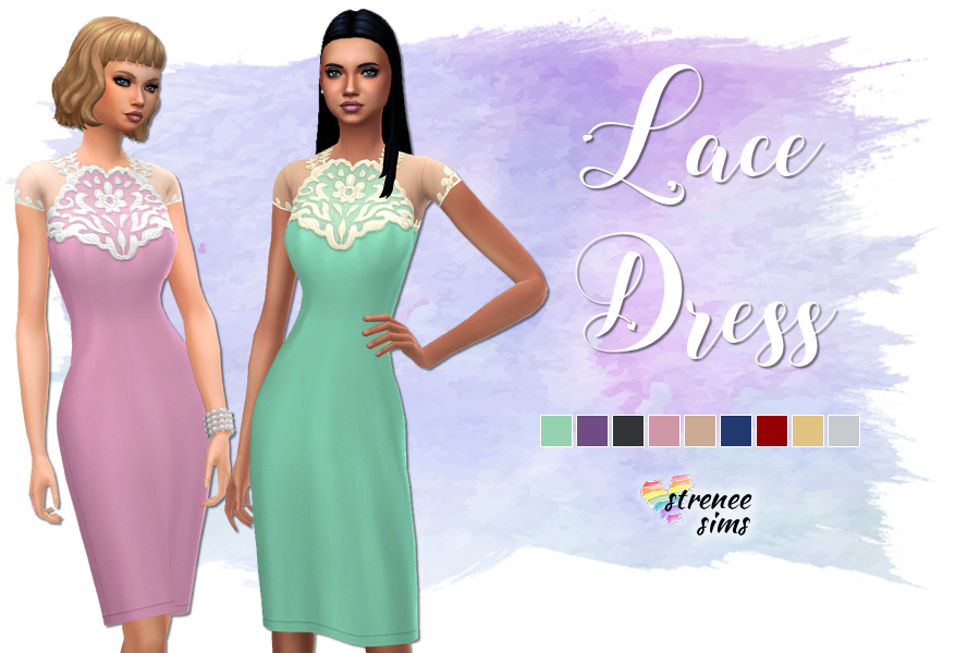 Lace Dress Conversion | A conversion of the lace dress for girls from Get Famous for adult's #ts4 #sims4 | www.streneesims.com