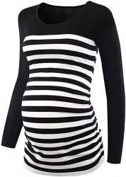 Striped Maternity Tunic by CareGabi on Amazon