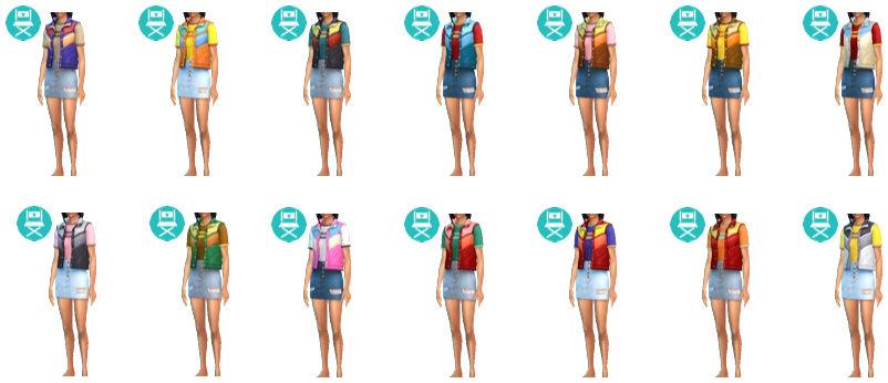 Original Get Famous Vest Skirt Outfit