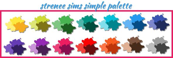 strenee sims simple palette