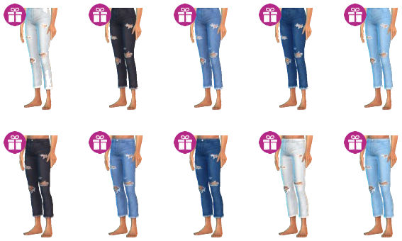 Original Crop Jeans with frays and holes