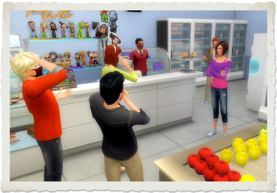 Caption Contest: The Store | Caption this screenshot, win the Bust the Dust Kit! Contest ends 4-1-2021 | www.streneesims.com