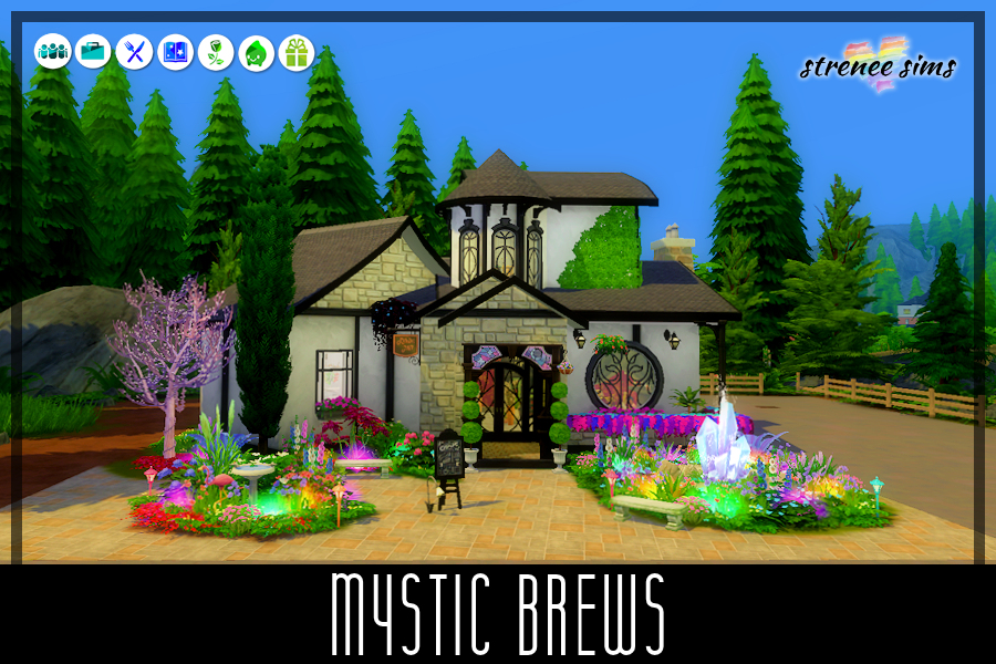 Mystic Brews | When Ginger & Herb Potts passed away, their daughter Cookie turned their cottage into a Tea Room and Deli. #ts4 #sims4 #sims4dineout | www.streneesims.com
