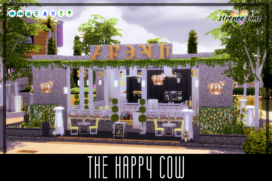The Happy Cow Vegan Diner | Nix the animal products without losing any flavor! #ts4 #sims4 | www.streneesims.com