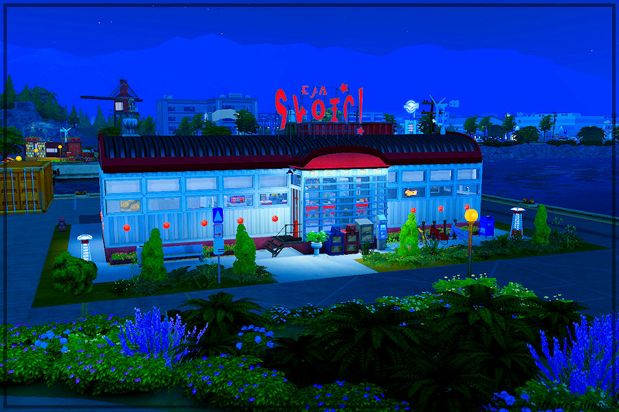 Sims 4 Railcar: The Mainline - Night View