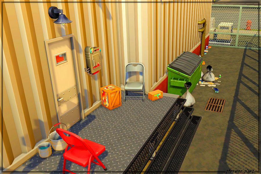 Sims 4 Railcar: The Mainline - Rear View