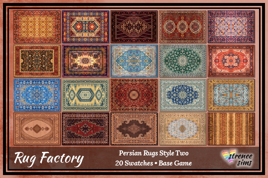 The Rug Factory: Persian Rugs Rectangle | Beautiful, luxurious rugs to grace the most stylish of Sim's homes #sims4 #ts4 | www.streneeism.com