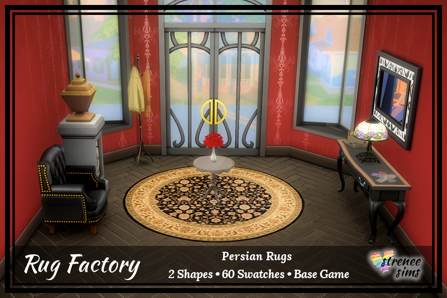 The Rug Factory: Persian Rugs Round | Beautiful, luxurious rugs to grace the most stylish of Sim's homes #sims4 #ts4 | www.streneeism.com