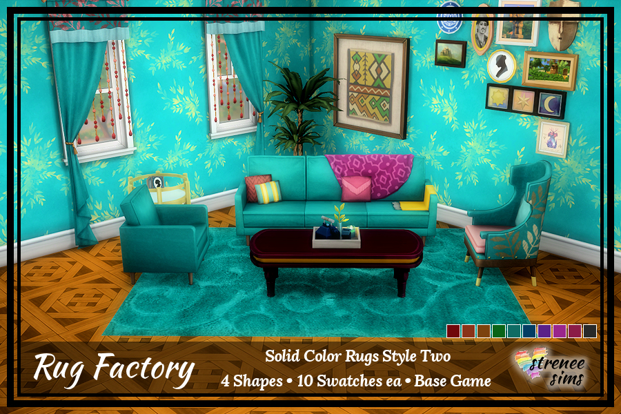 The Rug Factory Solid Rugs Set 2