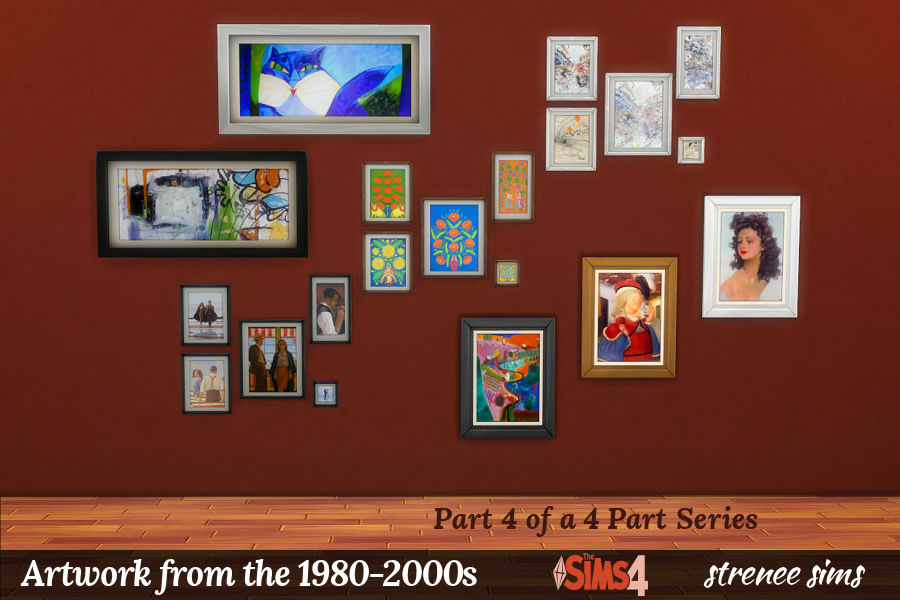 Artwork from the 1980s through 2000s