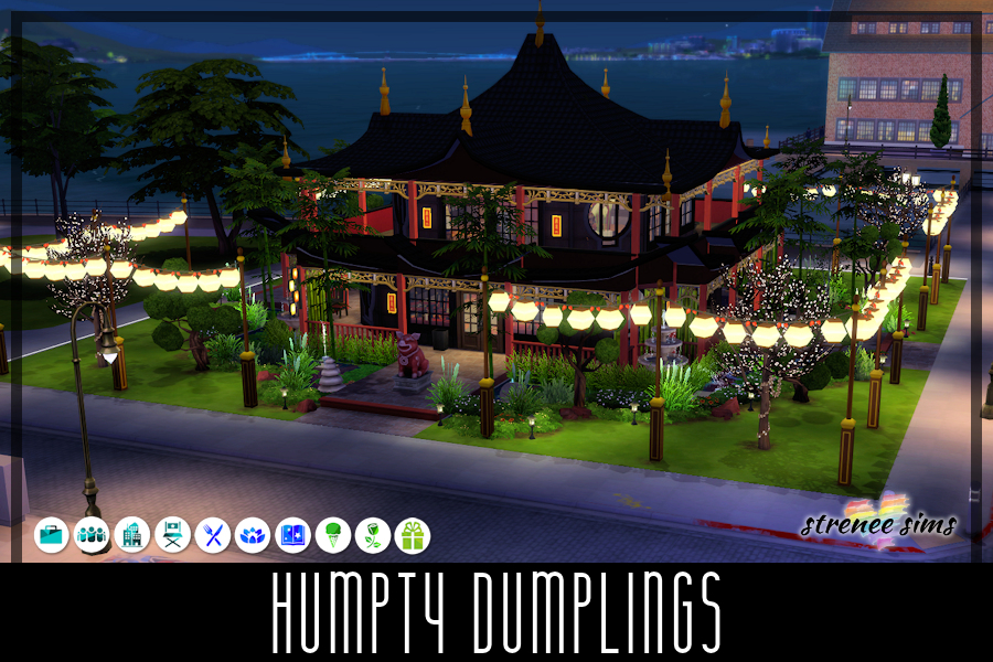 Humpty Dumplings Asian Restaurant   Humpty Dumplings is an Asian restaurant founded on making food from scratch every day #sims4 #ts4   www.streneesims.com