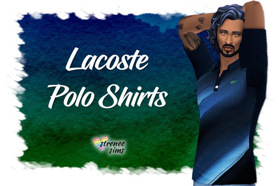 Lacoste Polo Shirts   Polo shirts for Sim men #sims4 #ts4   www.streneesims.com
