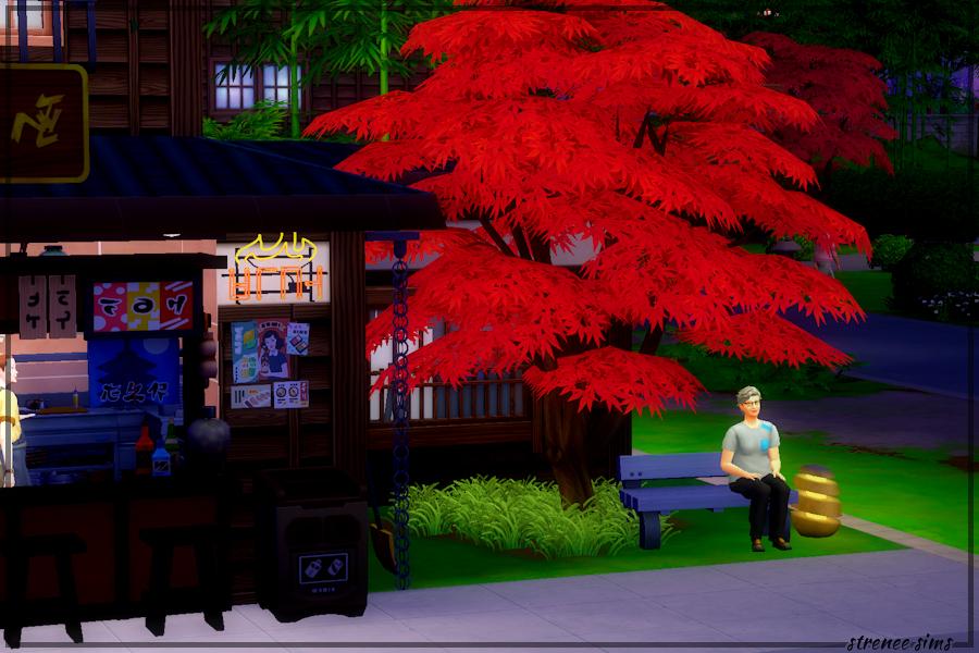 Kobe Teppanyaki - Just my mom sitting under a tree