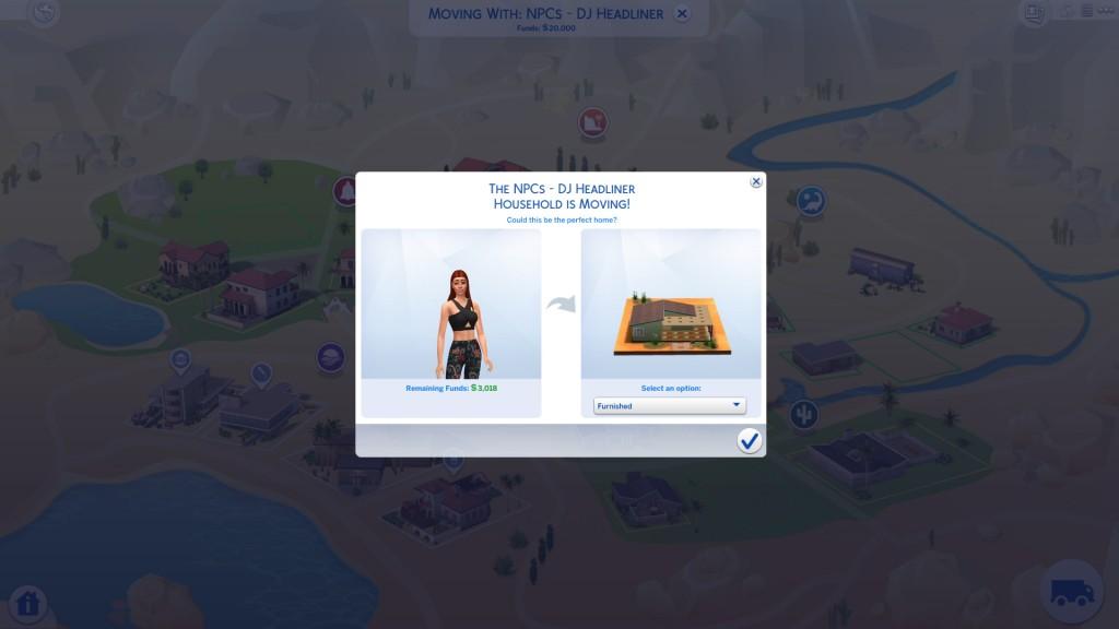 Move Sim Into A Lot