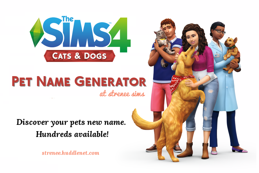 Pet Name Generator | Have fun generating pet names | www.streneesims.com